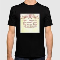 Shall I comare thee to a summer's day? --Sonnet 18 Shakespeare Quote Mens Fitted Tee Black SMALL