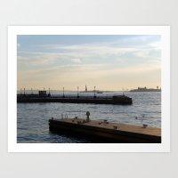 Hudson River Meets Liber… Art Print