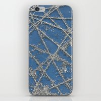 Sparkle Net Blue iPhone & iPod Skin