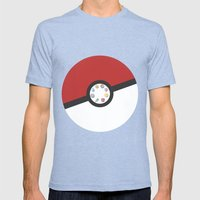 Pokemon Master Mens Fitted Tee Tri-Blue SMALL