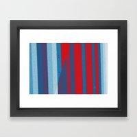 Red, White, Blue Framed Art Print