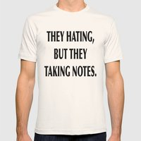HATERS Mens Fitted Tee Natural SMALL