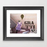 Grattis! Framed Art Print