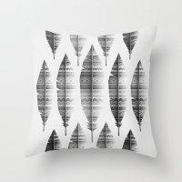 native bling (monochrome series) Throw Pillow