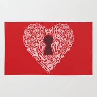 The Key To My Heart Rug
