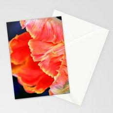 Fire orange bloom Stationery Cards