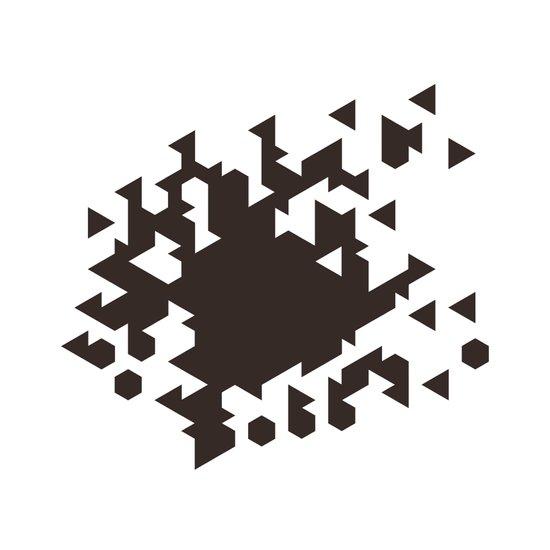 #386 Wild fire – Geometry Daily Art Print