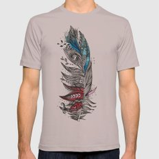 Garden Feather Mens Fitted Tee Cinder SMALL