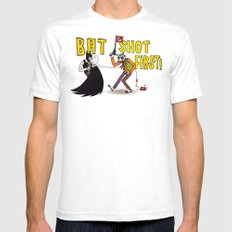 BAT SHOT FIRST Mens Fitted Tee White SMALL