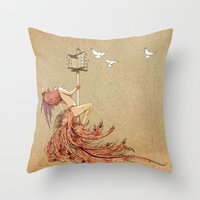 The Whores Of Horus Throw Pillow