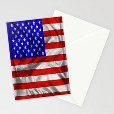 Stars and Stripes Usa Silk Flag Stationery Cards