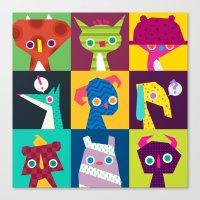 Thumbnail Monsters Canvas Print