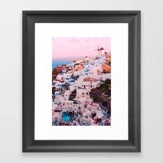 Oia town Santorini Framed Art Print