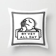 Oy Vey dude blk Throw Pillow