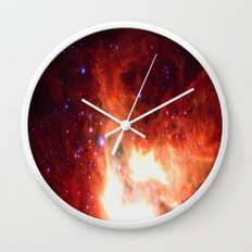 Burning Star Wall Clock