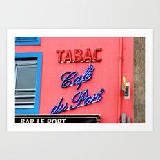 Café du Port Art Print