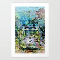 Magic Tramway Of Market … Art Print