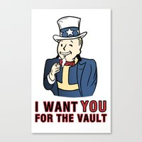 I Want You For The Vault Canvas Print