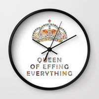 Her Daily Motivation Wall Clock