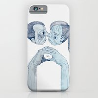 iPhone Cases featuring 'Us & Them' by Alex G Griffiths
