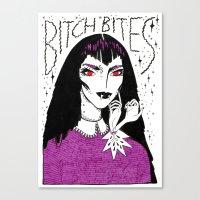 Bitch Bites! Canvas Print