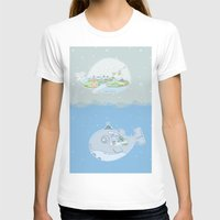 Fantastic Fish Womens Fitted Tee White SMALL