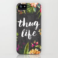 iPhone 5s & iPhone 5 Cases featuring Thug Life by Text Guy