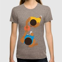 Basketball / Geometrical… Womens Fitted Tee Tri-Coffee SMALL