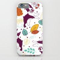Happy Fall, Dogs! (Bosto… iPhone 6 Slim Case