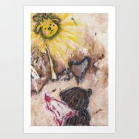 Angelbaby Art Print