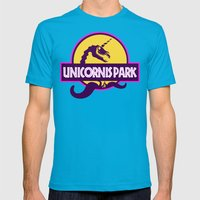 Unicornis Park Mens Fitted Tee Teal SMALL