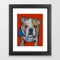 Johnny The English Bulld… Framed Art Print