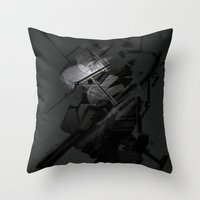 Darkfall Tech Zero Degree Throw Pillow