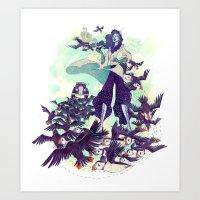 The Blue Wind Art Print
