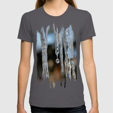 Melting Womens Fitted Tee Asphalt SMALL