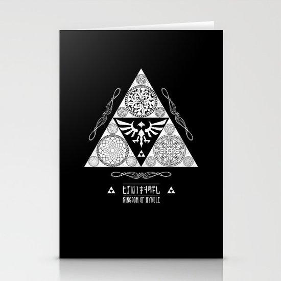 Legend of Zelda Kingdom of Hyrule Crest Letterpress Vector Art Stationery Card