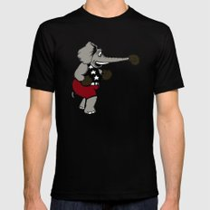 Boxing Elephant SMALL Black Mens Fitted Tee