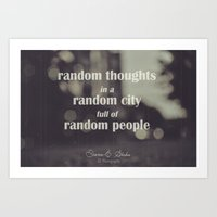Random Art Print