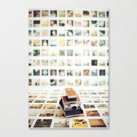 Polaroid Wall Canvas Print
