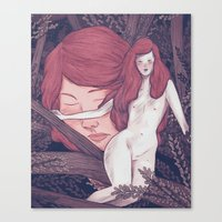 girl in the woods Canvas Print