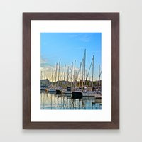 Harbor: Barcelona, Spain Framed Art Print