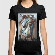 The White Queen Womens Fitted Tee Tri-Black SMALL