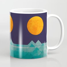 The ocean, the sea, the wave - night scene Mug