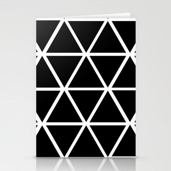 BLACK & WHITE TRIANGLES 2 Stationery Card