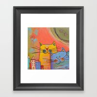City Cats Framed Art Print