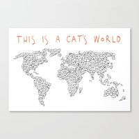 This is a Cat's World Canvas Print