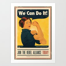 Leia The Riveter 2: The … Art Print