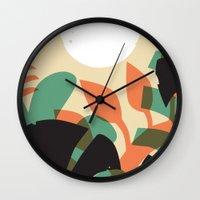 Jungle Sun #1 Wall Clock