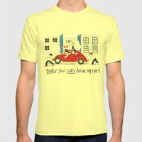 Les Petits - Baby You Can Drive My Car Mens Fitted Tee Lemon SMALL