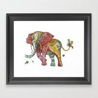 Elephant Ini Framed Art Print